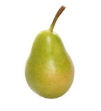 Green ripe pear isolated on white Stock Image