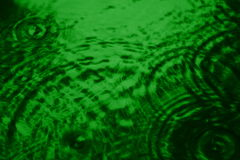 Green Ripples Stock Photography