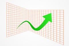 Green rising arrow Royalty Free Stock Image