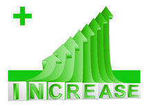 Green rising arrow graph with text vector Royalty Free Stock Photo