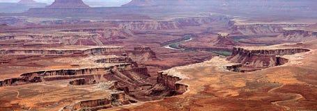 Green River übersehen in Canyonlands Lizenzfreie Stockfotos