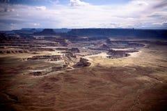 Green River übersehen in Nationalpark Canyonlands lizenzfreies stockfoto