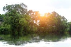 Green River и солнце Стоковая Фотография RF