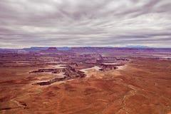 Green River обозревает в национальном парке Юте Canyonlands Стоковая Фотография RF
