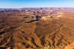 Green River обозревает в Canyonlands, США Стоковое Фото
