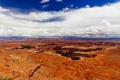 Green River обозревает, национальный парк Canyonlands, Юта, США Стоковое Изображение RF