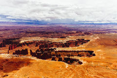 Green River обозревает, национальный парк Canyonlands, Юта, США Стоковая Фотография RF