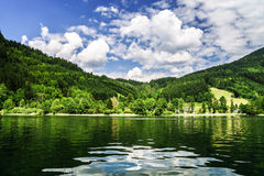 Green river in alpine austrian mountains Stock Photo
