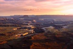 Green River donnent sur Photos libres de droits