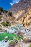 Green River en el barranco de Colca Imágenes de archivo libres de regalías