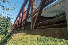 Green River gehende Brücken-Nahaufnahme Stockfotografie