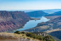 Green River i norr östliga Utah Royaltyfri Foto