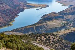 Green River i norr östliga Utah Arkivfoto
