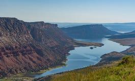 Green River i norr östliga Utah Arkivbild