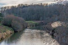 Green River i vinter 2 fotografering för bildbyråer