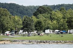Green River Lake State Park. Taylor County Kentucky August 13, 2017.  People camping during the weekend Stock Photo