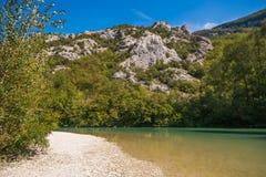 Green River Metauro in Marche apennines Fotografia Stock Libera da Diritti