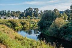 Green River Nachbarschaft Stockbild