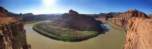 Green River ner i Canyonland Royaltyfria Foton