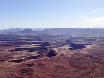 Green River overlook, Canyonlands, blue sky Stock Photo