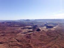 Green River overlook, Canyonlands, blue sky Stock Photos