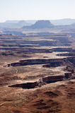 Green River overlook on sunshine, Canyonlands Royalty Free Stock Photos