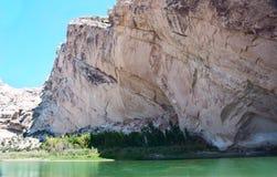 Green River que transporta Pôr-em Imagem de Stock Royalty Free