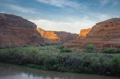Green River sunrise Stock Image