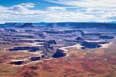 Green River trascura nel parco nazionale di Canyonlands Fotografia Stock Libera da Diritti