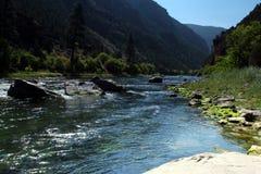 Green river in Utah. Scenic view of Green River in Utah near Flaming Gorge reservoir, Utah, U,S,A Royalty Free Stock Images