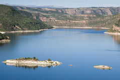 Green River View. View of the Green River at Flaming Gorge dam Royalty Free Stock Photos