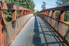 Green River Walking Bridge 3. A metal walking bridge spans the Green River in Washington State Royalty Free Stock Photos