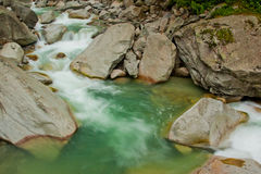 Green river waterfall Royalty Free Stock Photo