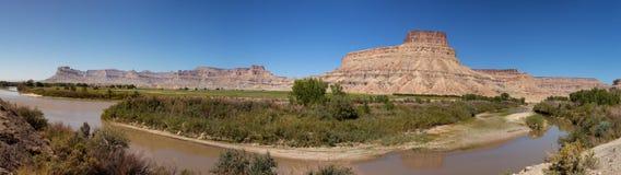 Green River an wenigem Loch, Utah Lizenzfreie Stockbilder