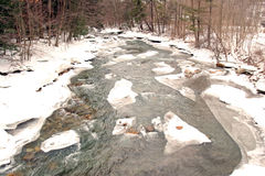 Green River in winter Stock Image