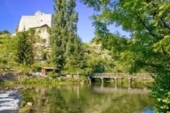 Green River y fortaleza de piedra Foto de archivo
