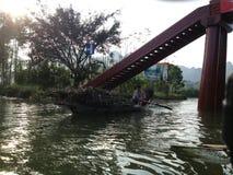 Green River, zum der Pagode in Hanoi, Vietnam, Asien zu parfümieren Lizenzfreie Stockfotos