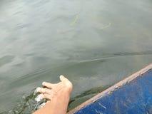 Green River, zum der Pagode in Hanoi, Vietnam, Asien zu parfümieren Lizenzfreie Stockbilder