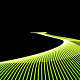 Green road. On the black Royalty Free Stock Photo