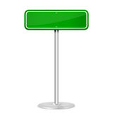 Green road sign royalty free illustration