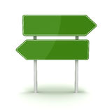 Green road sign. This is a computer generated and 3d rendered picture Stock Images