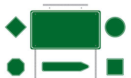 Green road signs Royalty Free Stock Images