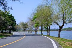 Green Road. In spring, it was taken in Songshan Lake Ecological Garden in Dongguan Royalty Free Stock Photos
