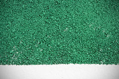 Green road surface texture background and white painted line Royalty Free Stock Images