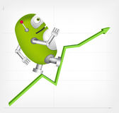 Green Robot Stock Image