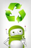 Green Robot Royalty Free Stock Image