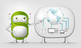 Green Robot Royalty Free Stock Images