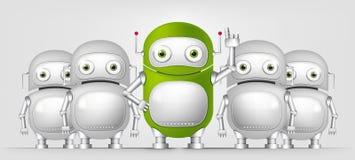 Green Robot. Cartoon Character Green Robot. Concept Illustration. Vector EPS 10 Royalty Free Stock Photos