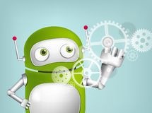 Green Robot. Cartoon Character Green Robot. Concept Illustration. Vector EPS 10 Stock Photography