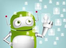 Green Robot. Cartoon Character Green Robot. Concept Illustration. Vector EPS 10 Stock Photos